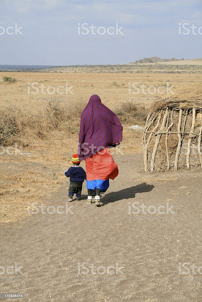 Masai Mother and Child royalty-free stock photo