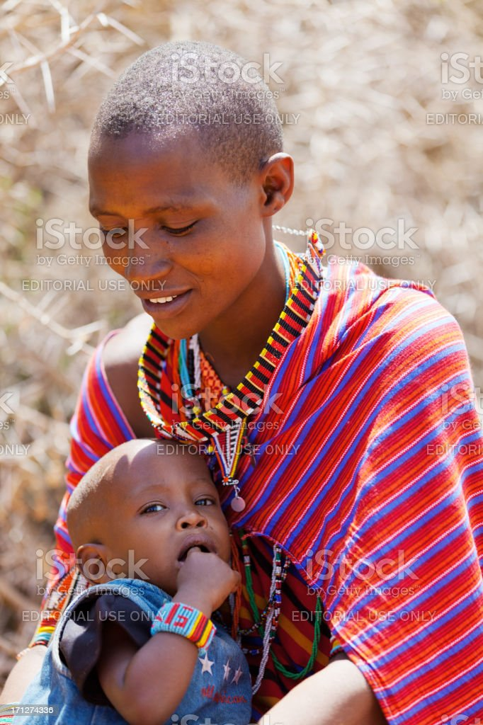 Masai people royalty-free stock photo