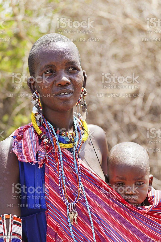 Masai people royalty-free stock photo