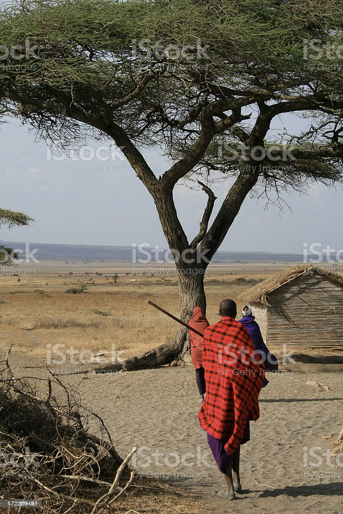 Masai Village royalty-free stock photo