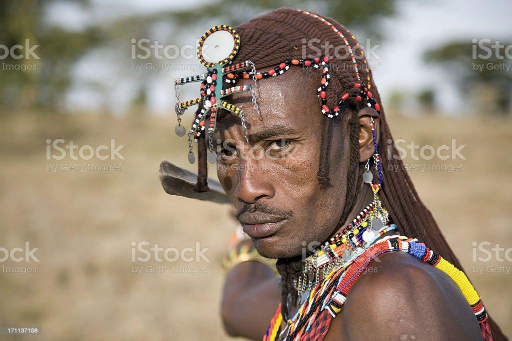 Masai Warrior royalty-free stock photo