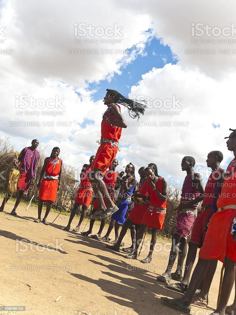 Masai warriors royalty-free stock photo