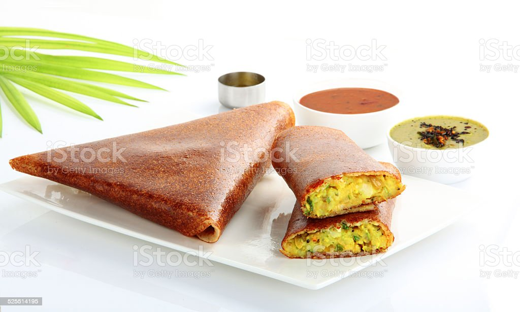Masala dosa from south India stock photo