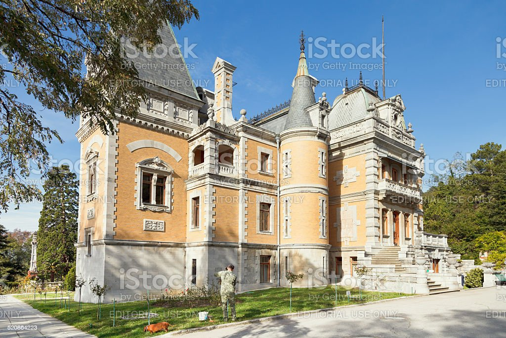 Masandra Palace of Emperor Alexander III in Crimea stock photo