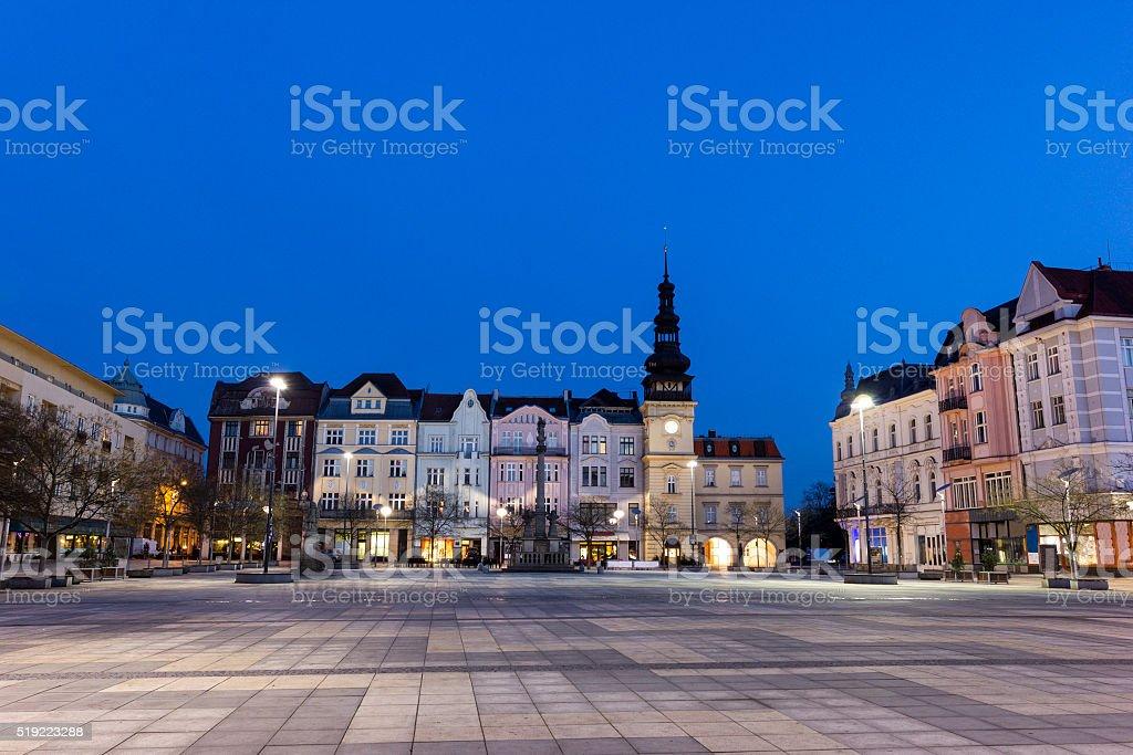 Masaryk Square in Ostrava stock photo