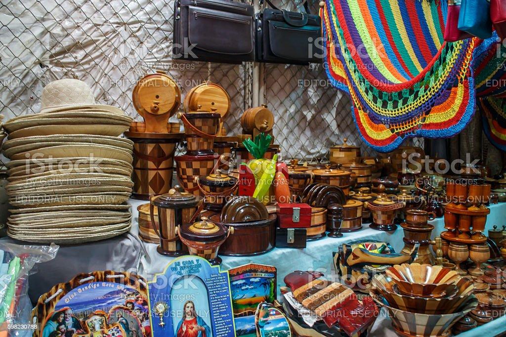 Masaya popular market, Daily life on Nicaragua photography series stock photo