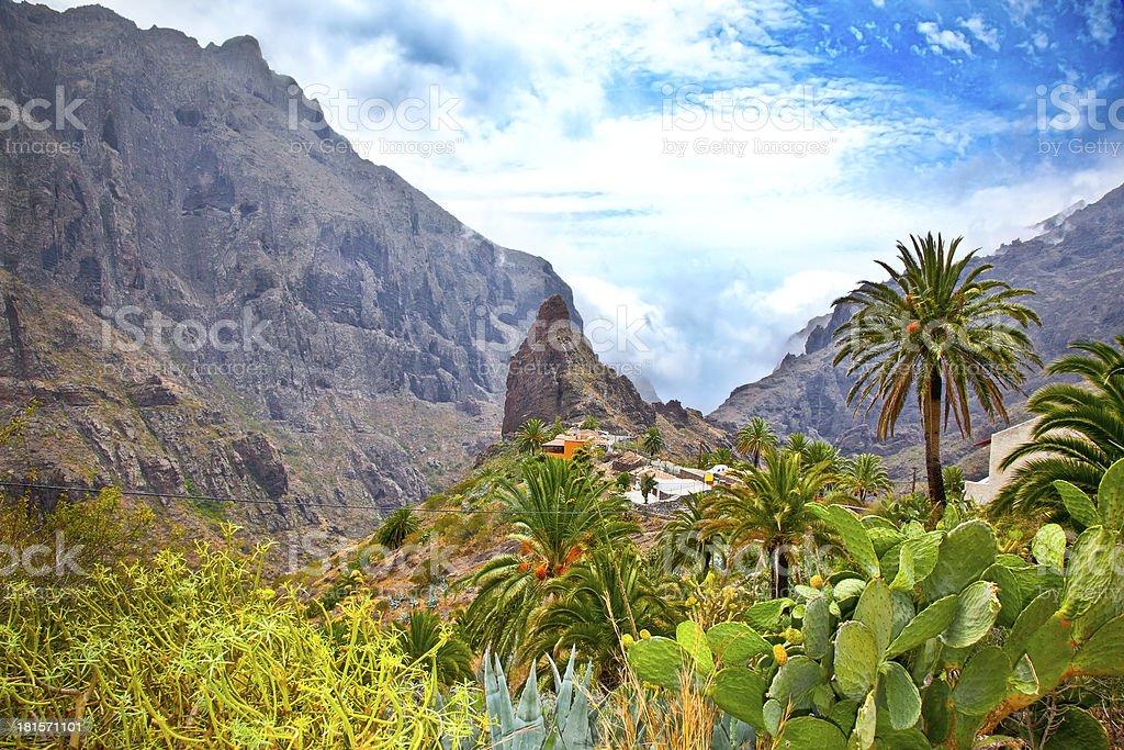 Masca village in Teno Mountains, Tenerife, Spain stock photo