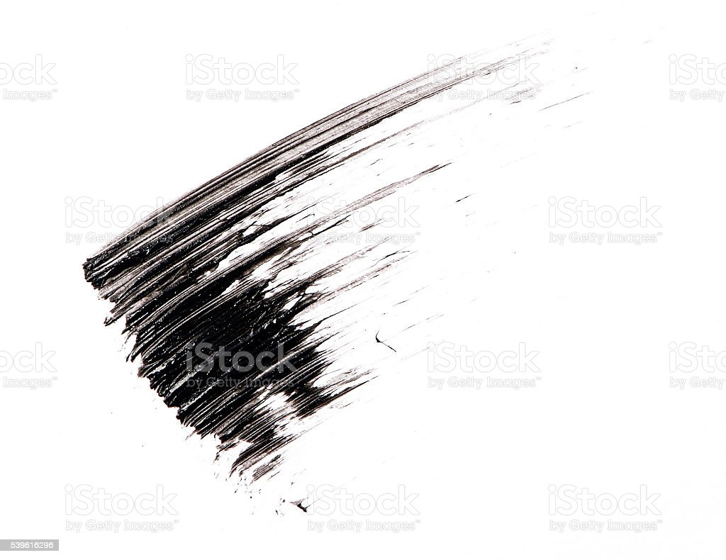 Mascara brush stroke on background stock photo