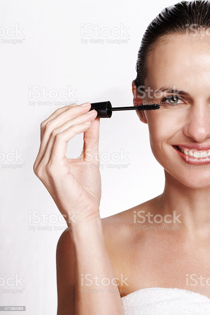 Mascara for magnificent eyes royalty-free stock photo