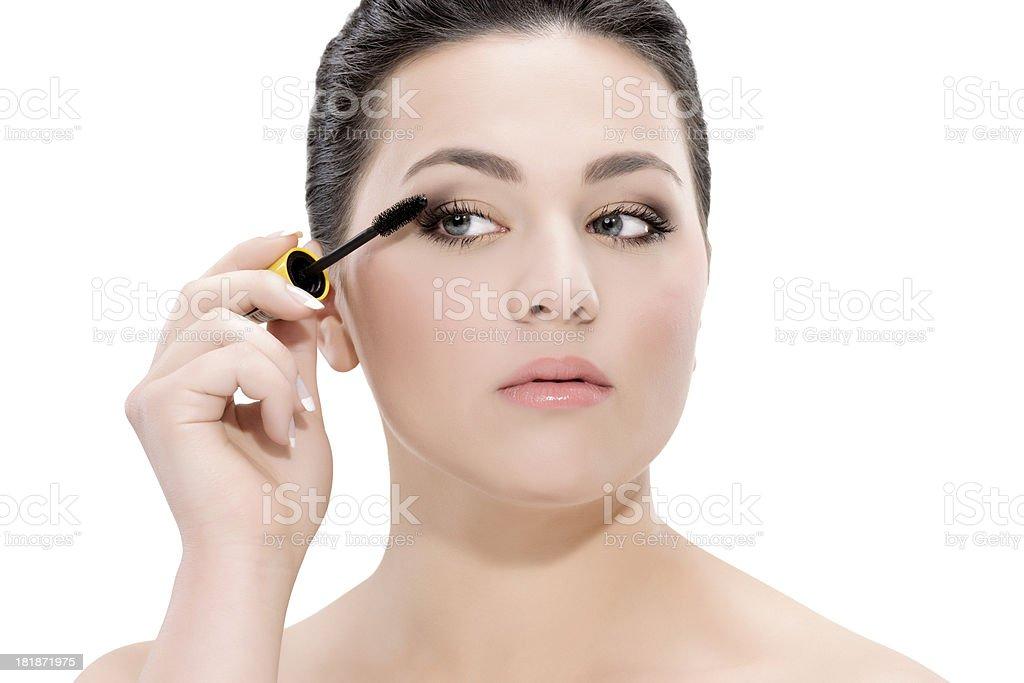 mascara woman royalty-free stock photo