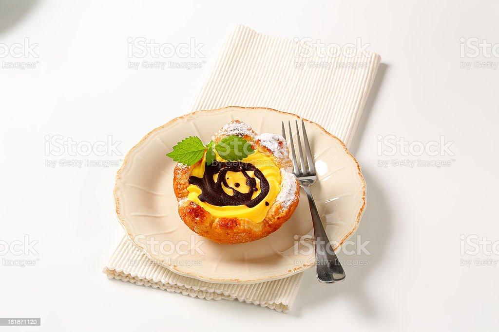 mascarpone basket cake royalty-free stock photo