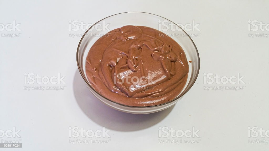 mascarpone cream stock photo