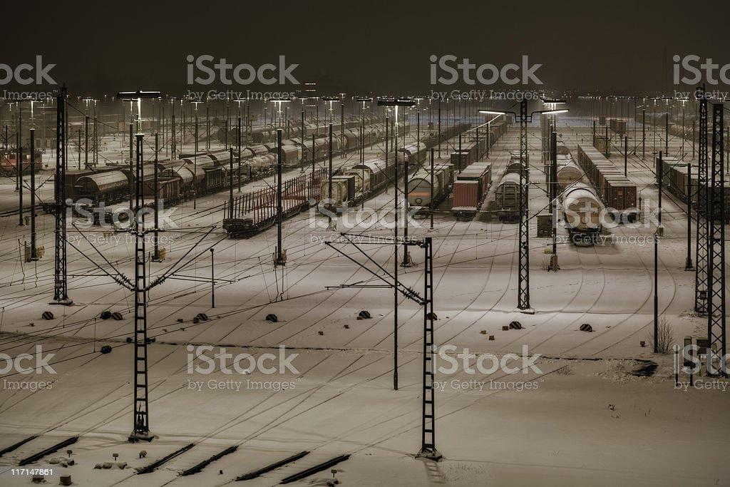 Maschen marshalling yard ( Rangierbahnhof ) stock photo