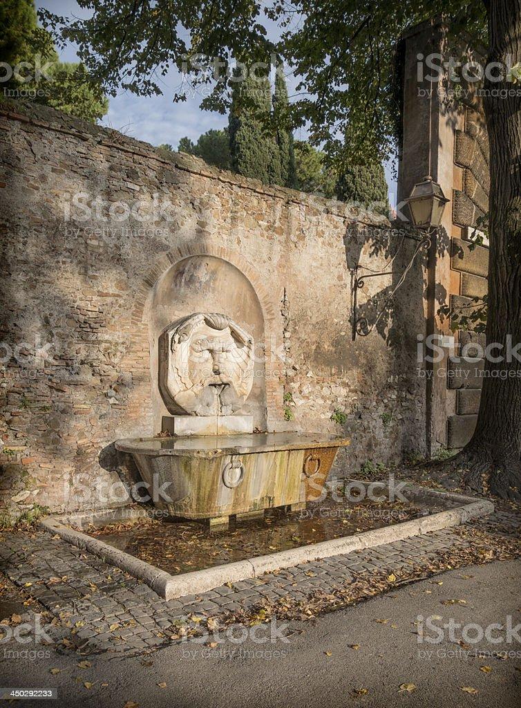 Mascherone di Santa Maria fountain, Rome Italy royalty-free stock photo