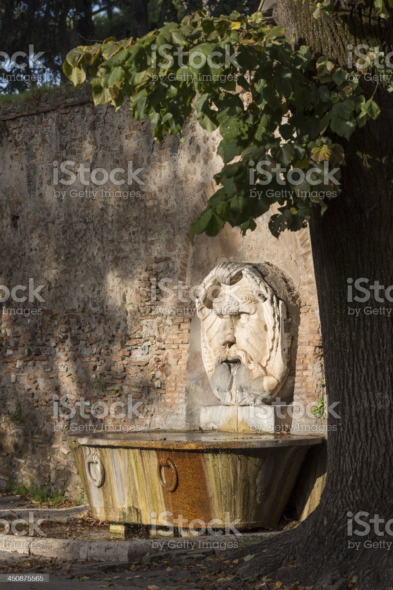 Mascherone di Santa Maria  fountain, Rome Italy royalty-free stock photo