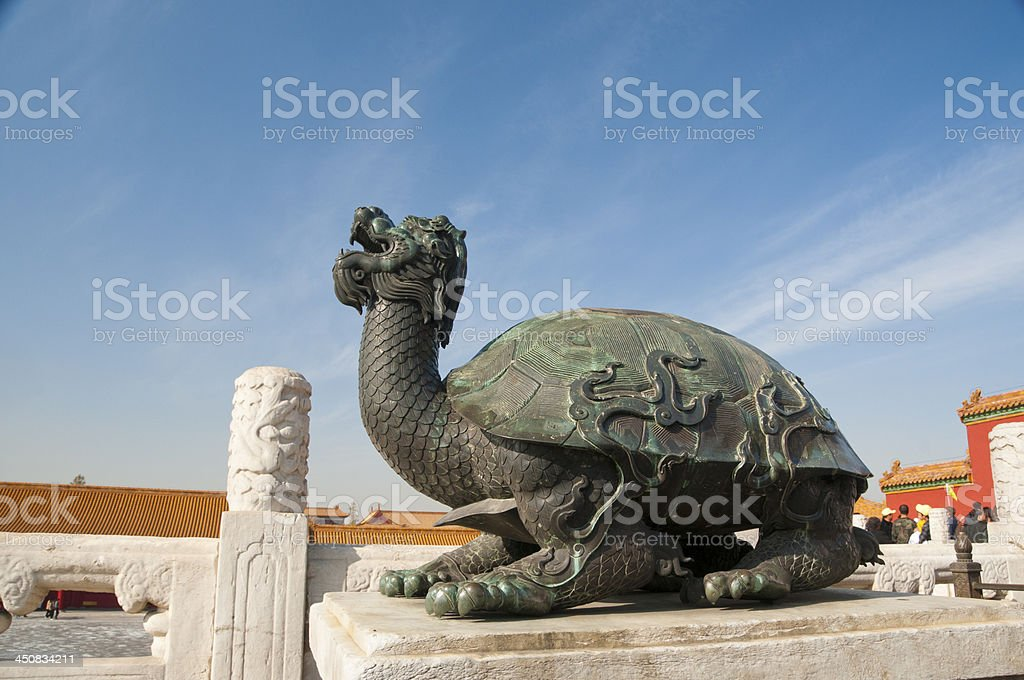 mascot of the Forbidden City stock photo