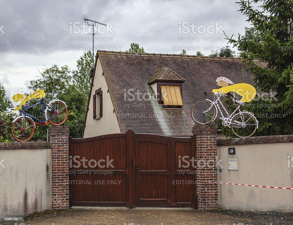 Mascots During Le Tour de France royalty-free stock photo