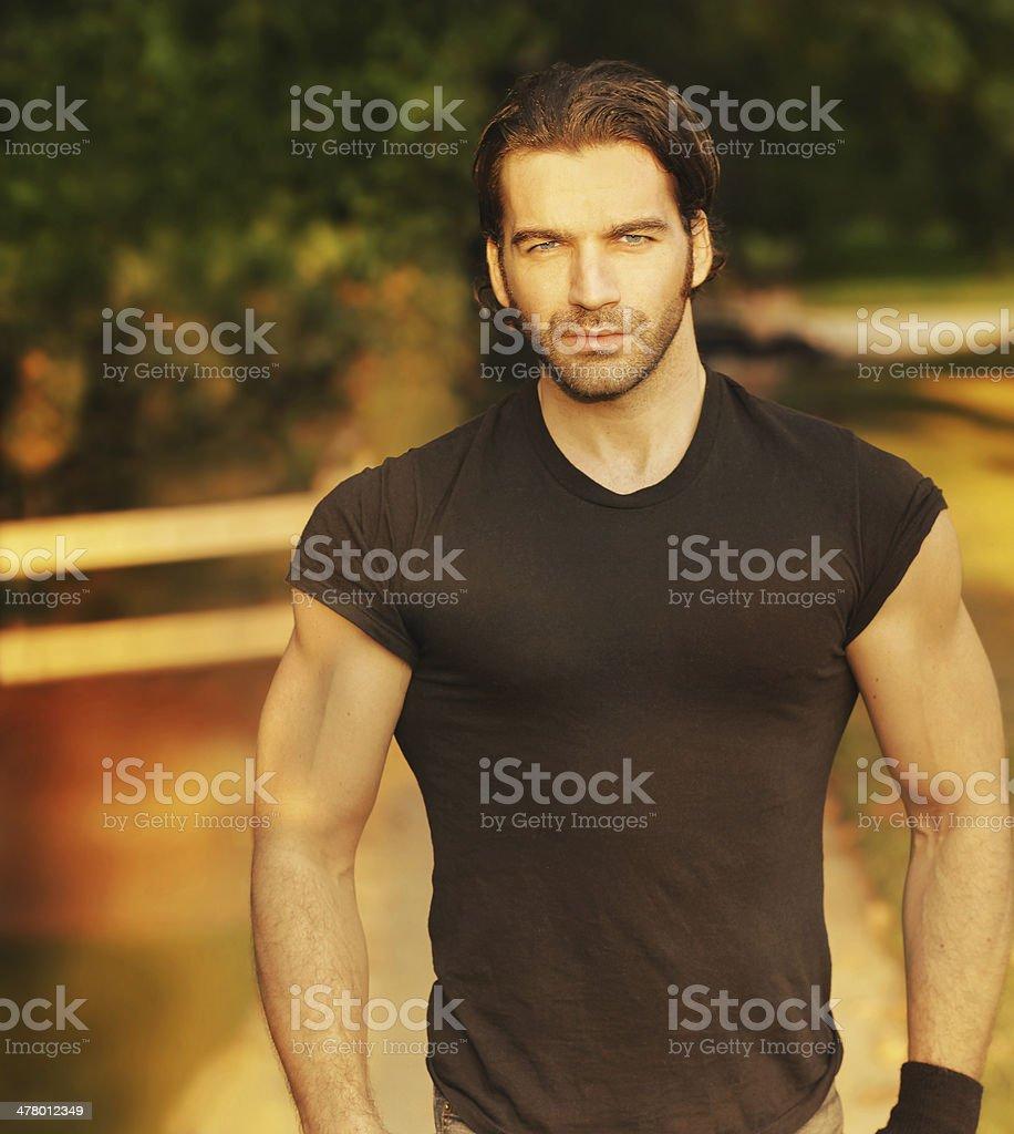 Masculine classic man royalty-free stock photo