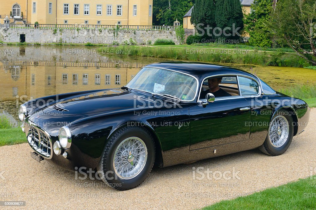 Maserati A6G Frua Berlinetta classic sports car stock photo