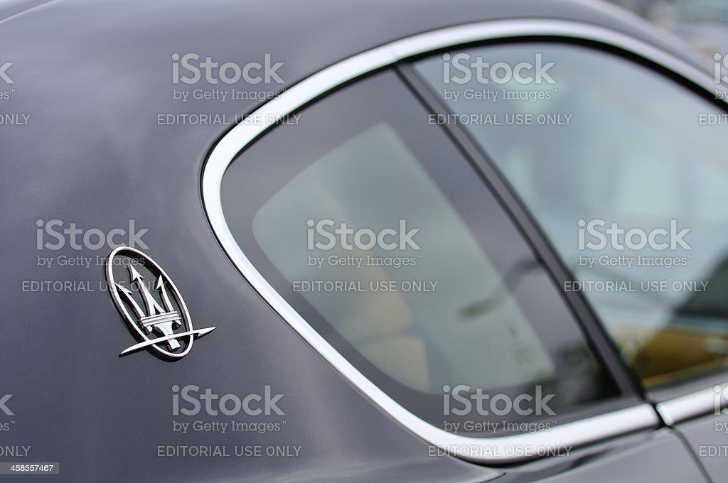 Maserati emblem stock photo