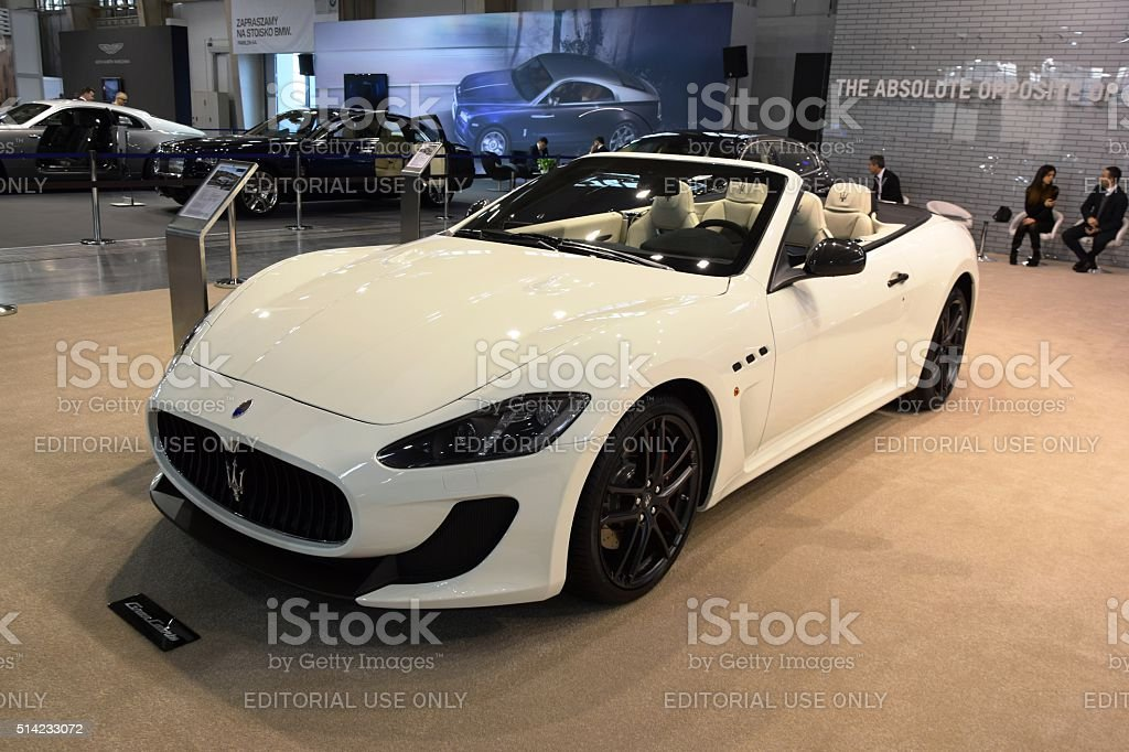 Maserati GranCabrio on the motor show stock photo