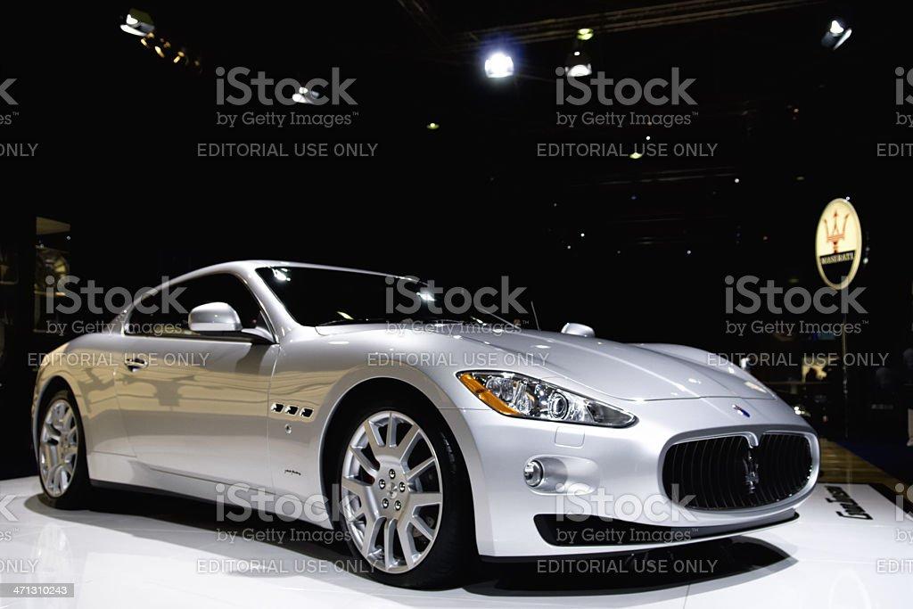 Maserati GranTurismo Italian sports car at a motor show stock photo