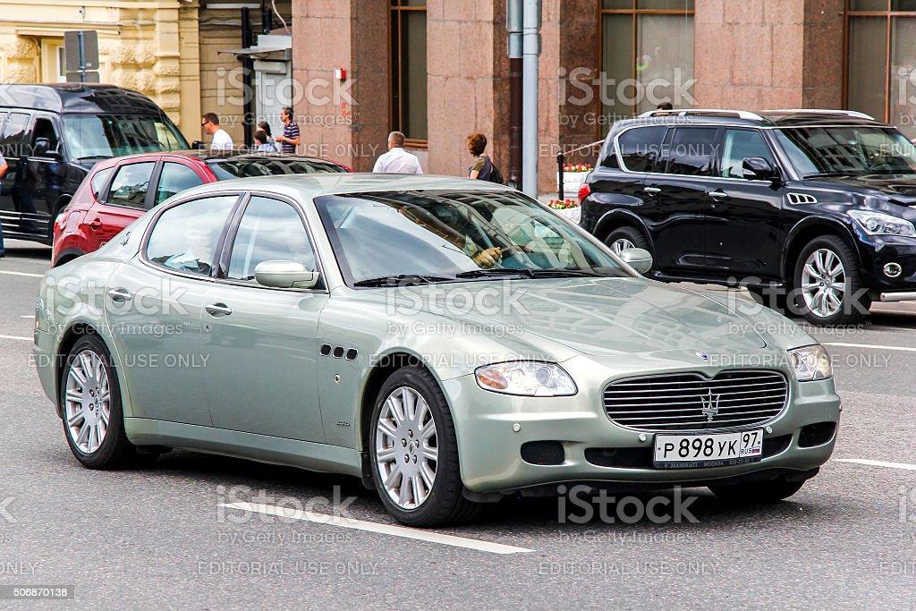 Maserati Quattroporte stock photo
