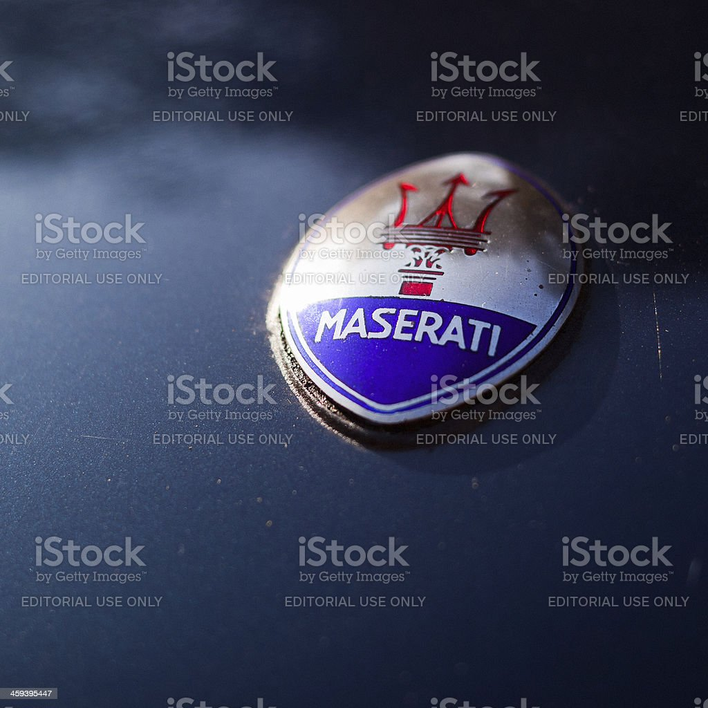 Maserati Sign stock photo