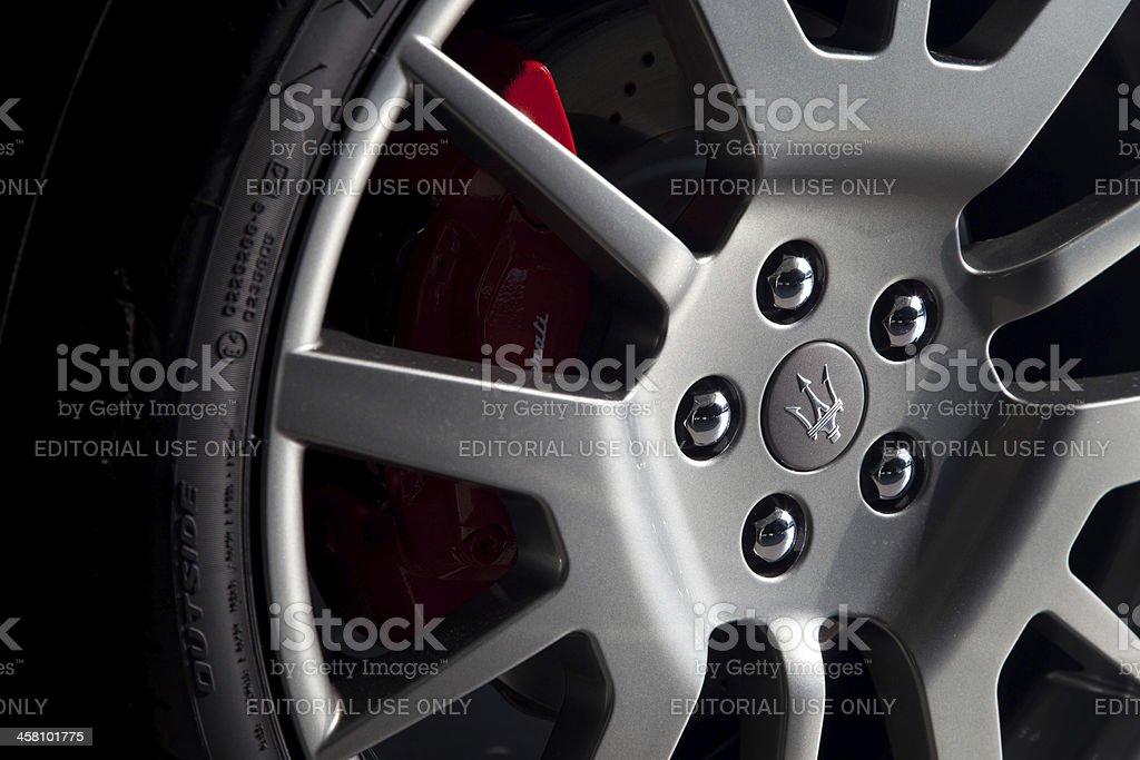 Maserati wheel stock photo