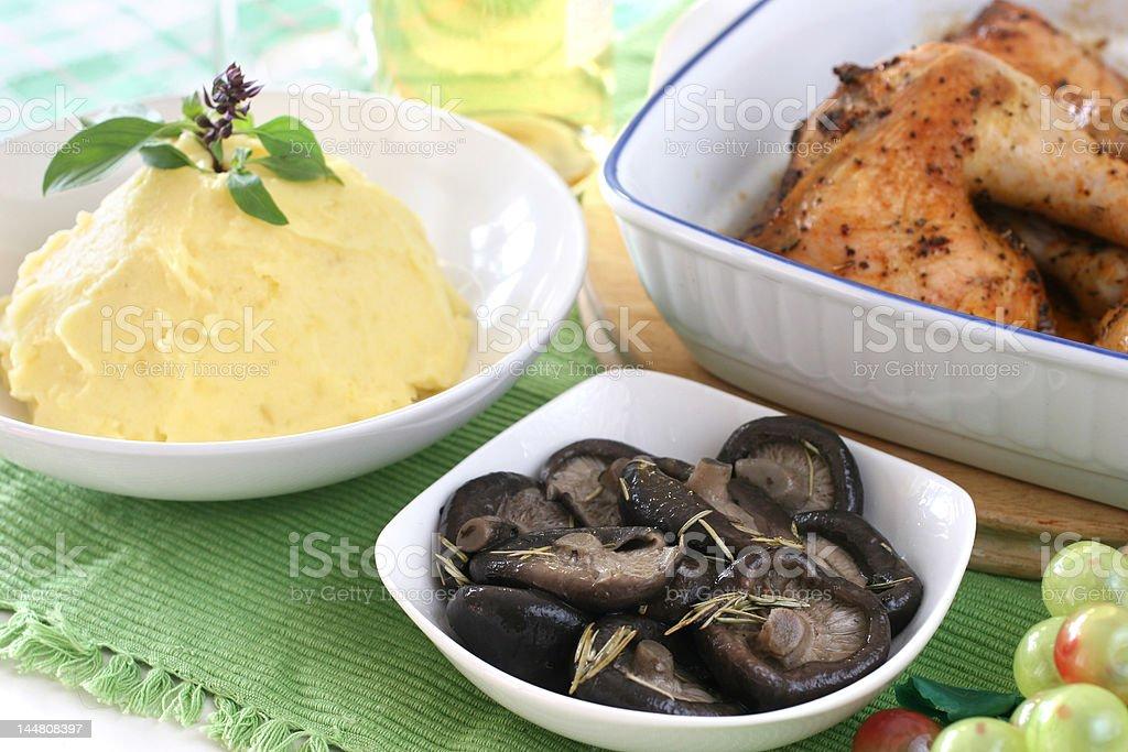 Mash potato stock photo
