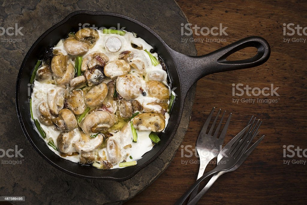 mash potatoes with mushroom royalty-free stock photo
