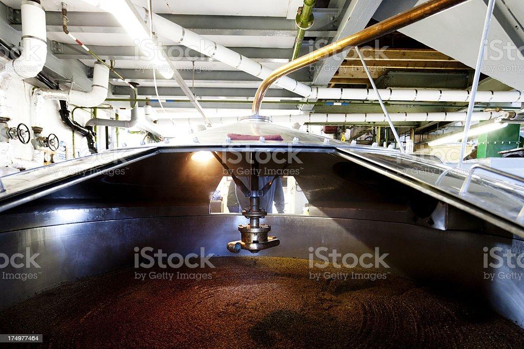 Mash tun and Dissolving vat, inside stock photo