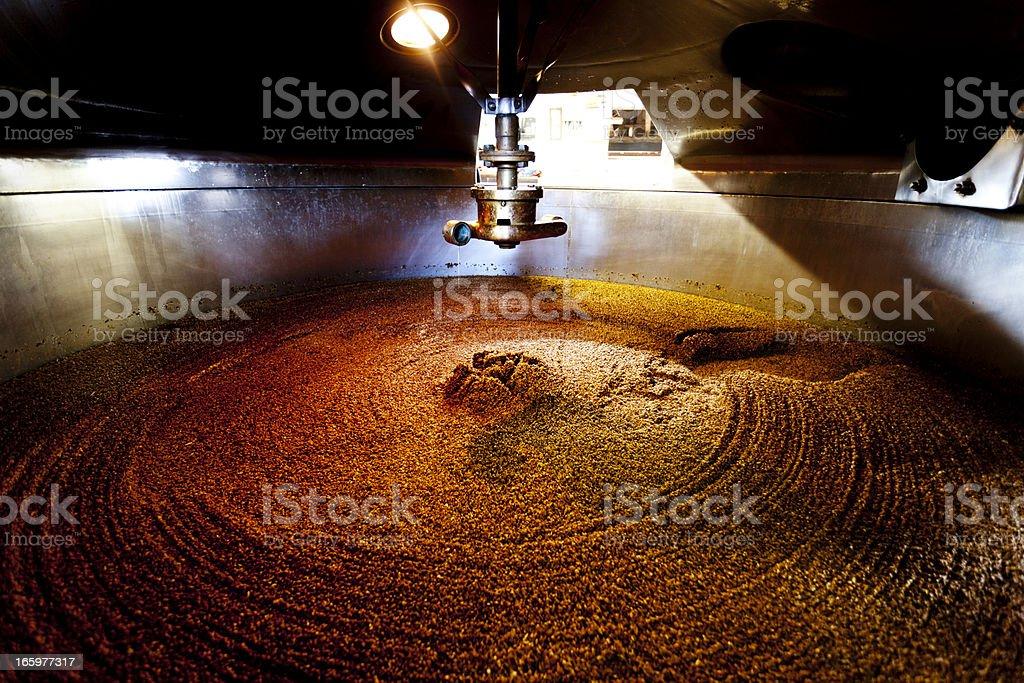 Mash tun and dissolving vat stock photo