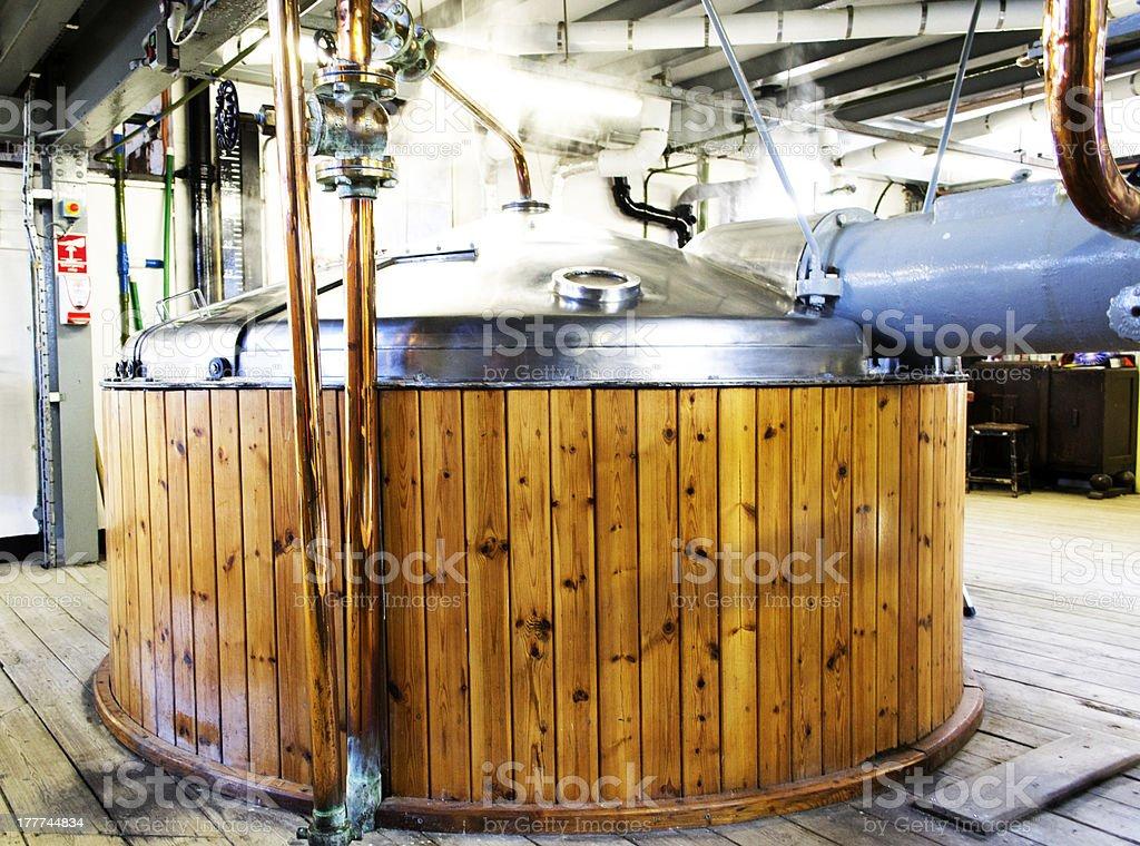 Mash Tun in a brewery stock photo