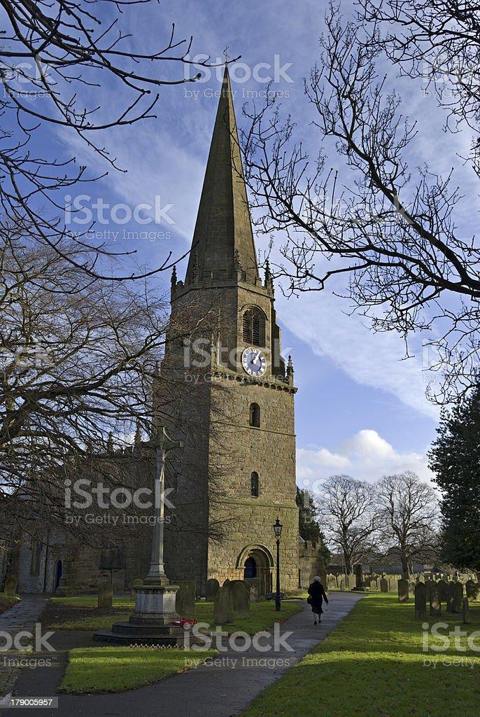 Masham church stock photo