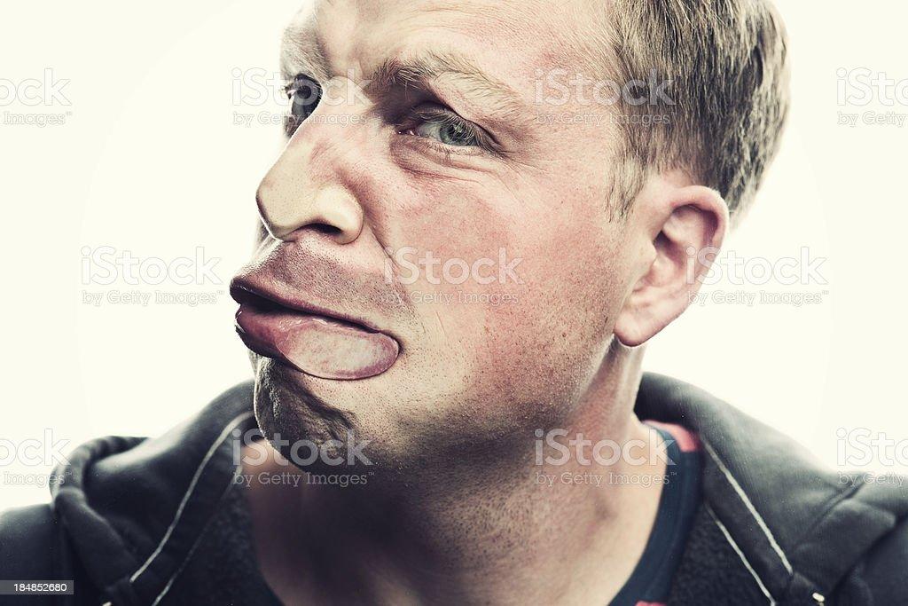 mashed face stock photo