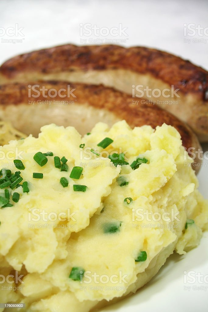 Mashed Potato with Chive royalty-free stock photo