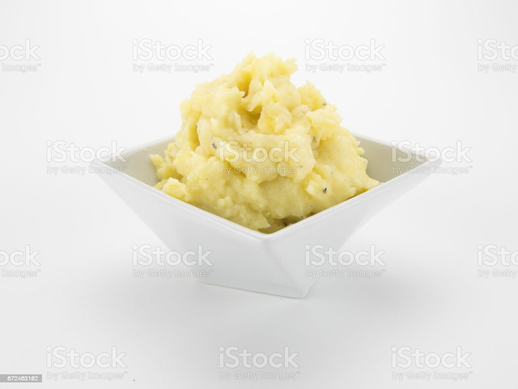 Mashed Potatoes in Bowl stock photo