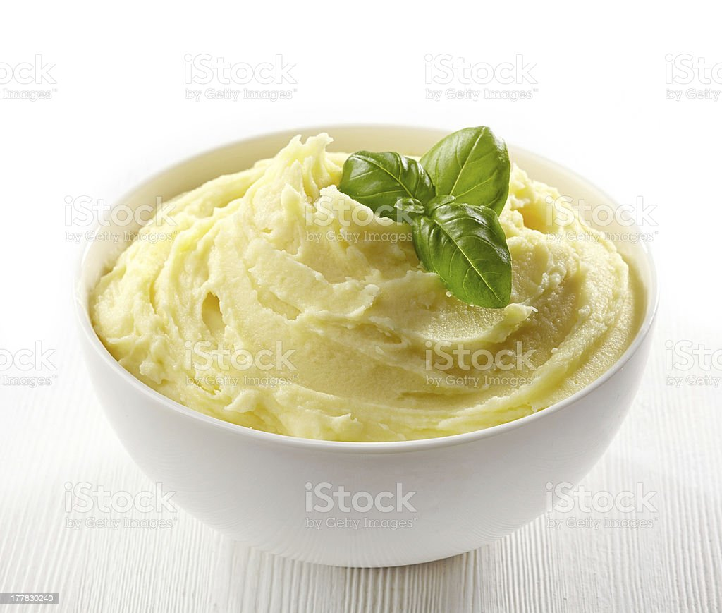 mashed potatoes stock photo