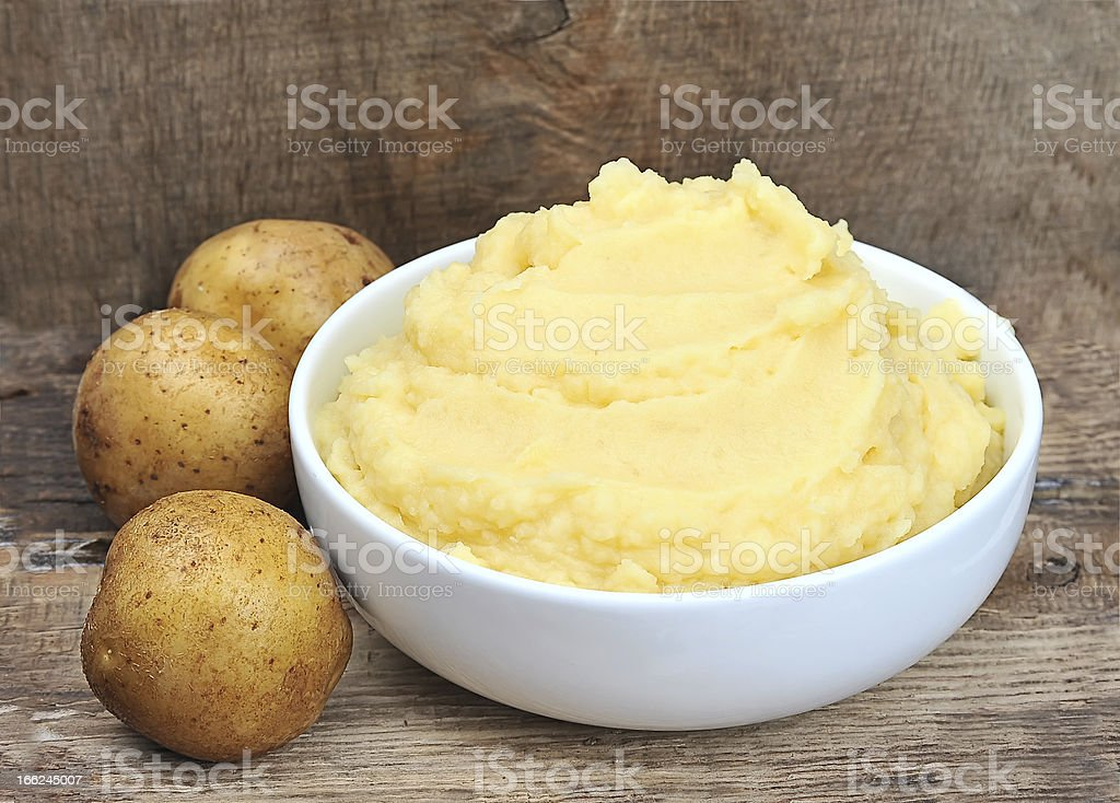 Mashed potatoes potato stock photo