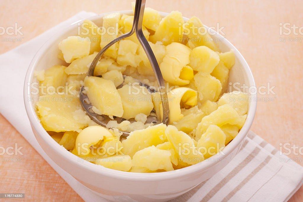 Mashing Potato Mash Mashed Masher royalty-free stock photo