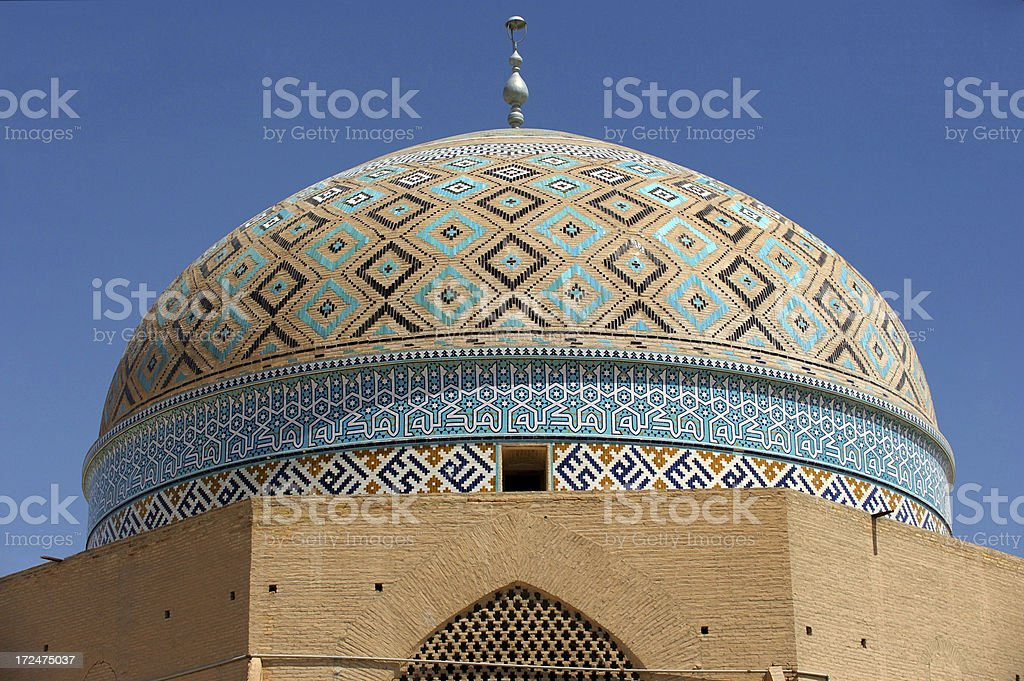 Masjed-e-Jame, Yazd, Iran stock photo