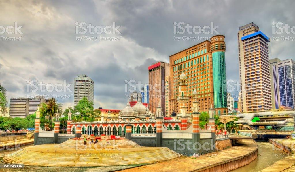 Masjid Jamek, one of the oldest mosques in Kuala Lumpur, Malaysia stock photo