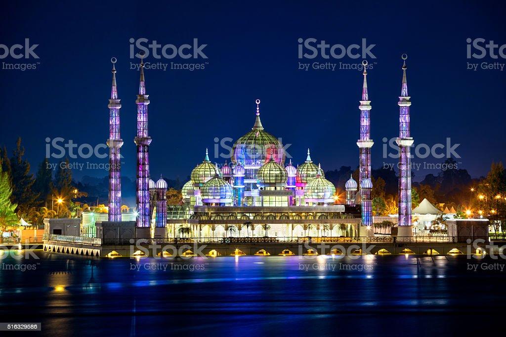 Masjid Kristal (Crystal Mosque) stock photo