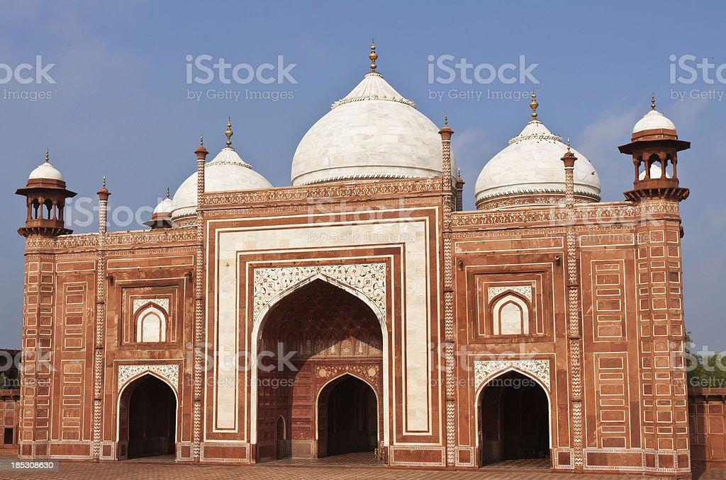 Masjid Mosque at the Taj Mahal, India stock photo