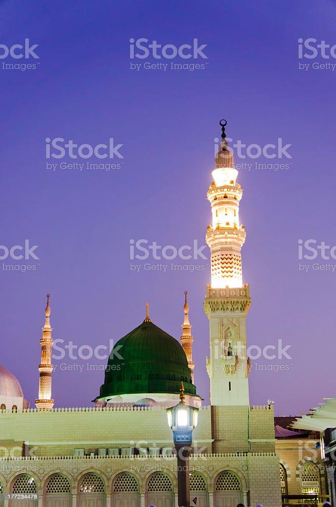 Masjid (mosque) Nabawi in Al Madinah, Saudi Arabia royalty-free stock photo