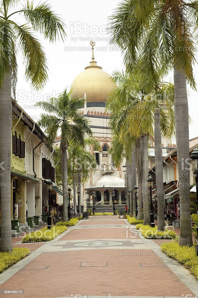 Masjid Sultan Mosque royalty-free stock photo