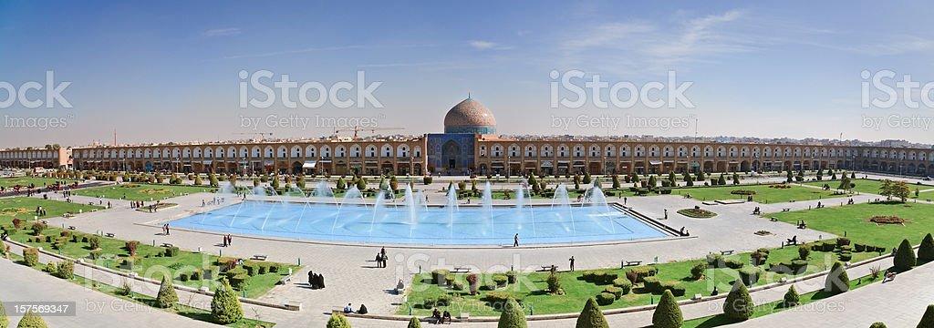Masjid-I Sheikh Lotfallah in Naghsh-i Jahan Square, Iran royalty-free stock photo