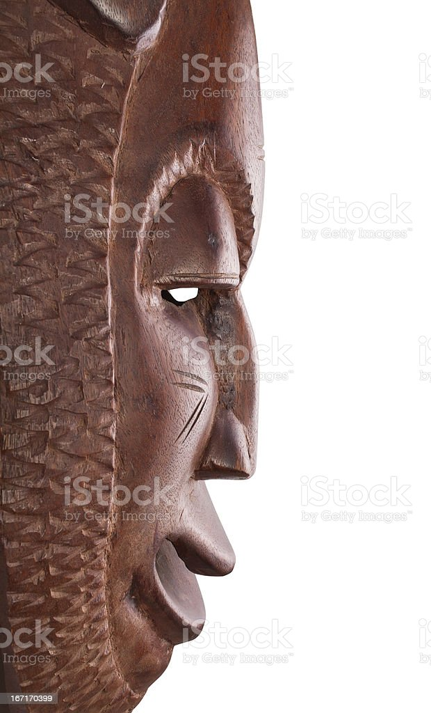 mask african profile royalty-free stock photo