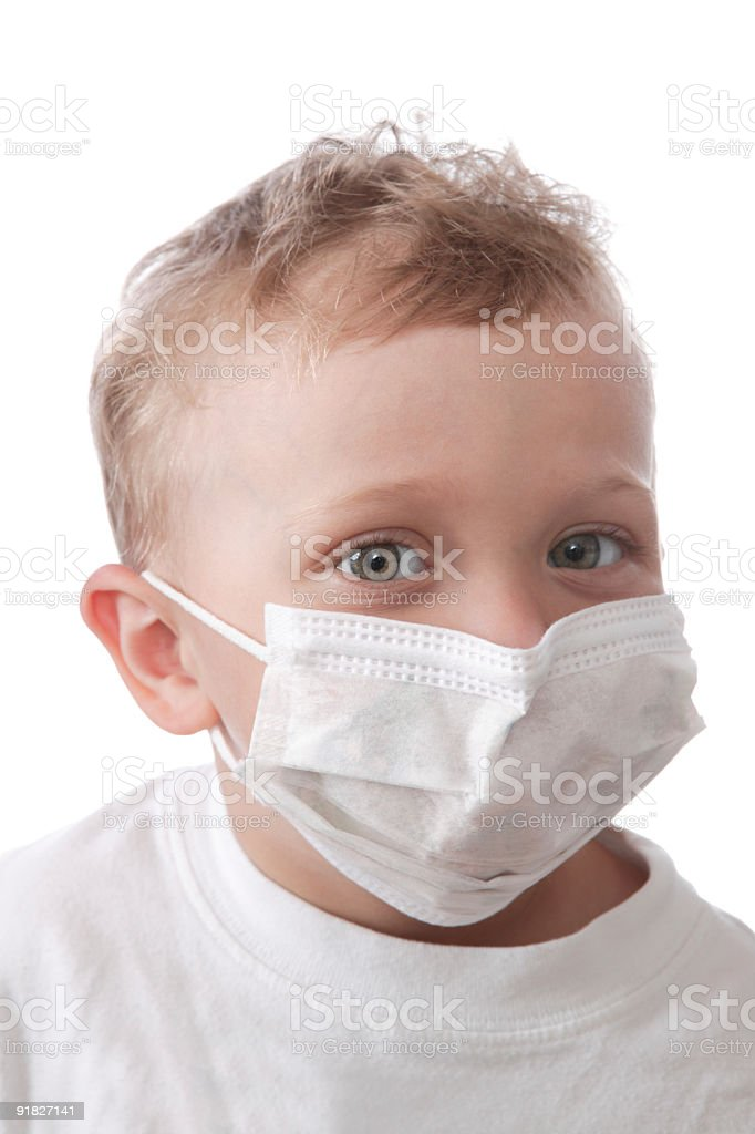 masque contre le virus de la grippe royalty-free stock photo